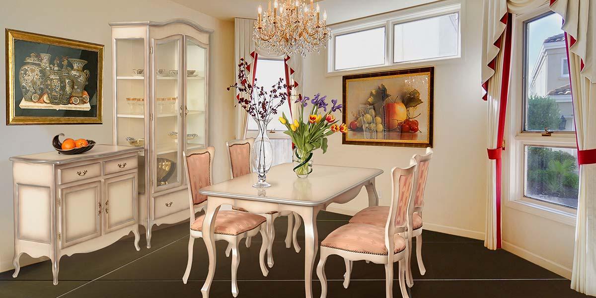 Витрина и шкаф за трапезария от Мебели Еврика
